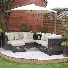 A rattan corner sofa really does deserve it's own space in the garden. Imagine sitting back with friends, relaxing with a glass of wine whilst lounging on the luxurious rattan sofa cushions?