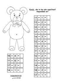 Pracovné listy z matematiky - prváci - Nasedeticky.sk Word Search, Diagram, Words, First Class, Horse