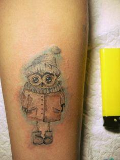 an owl tattoo...I like the shading