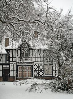 (via It's all about winter / ukimages:It's Almost All Black And White. (by meg_williams)Peterborough, England) Snow Scenes, Winter Scenes, Brighton, Tudor Style, English Countryside, British Isles, Winter Time, Winter Snow, Palermo