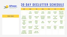 It's SPING CLEANING TIME! Sign up for a free 30 day declutter schedule.