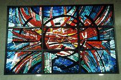 Detail of Commission: THE LIFE FORCE.  Location: Japan Medical Association. Tokyo. 1200 pieces of dalle de verre glass. Dimensions: 4 m x 3 m.  © Kristin Newton
