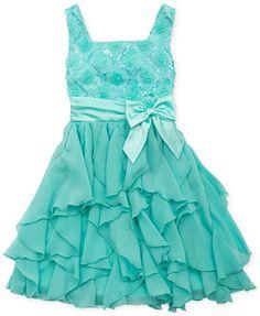 Rare Editions Little Girls' Sequin Ruffle Dress