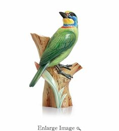 Franz Vase - Muller's Barbet Bird Hand Painted