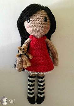 amigurumi pattern by Ana Artedetei Ravelry: Gorjuss amigurumi FREE pattern by Ana Artedetei.Ravelry: Gorjuss amigurumi FREE pattern by Ana Artedetei. Crochet Dolls Free Patterns, Amigurumi Patterns, Amigurumi Doll, Amigurumi Free, Crochet Diy, Crochet Crafts, Crochet Projects, Crochet Mignon, Love Knitting