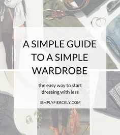 Inspired by minimalist style but struggling to create a simple wardrobe? Here's a simple way to create your own capsule wardrobe.