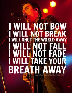 rockbandquotes:  Breaking Benjamin - I Will Not Bow