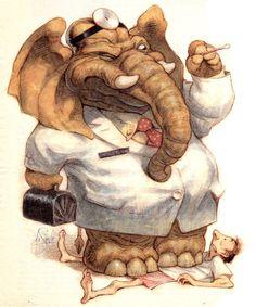 Peter de Seve illustrations from Michael Sporn's Animation Splog.