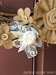 Hometalk :: DIY Fall Burlap and Lace Wreath Got a bunch of old lace I couldn't bear to throw out. Didn't know what to do with it..........now I know!!!!!!