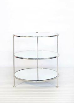 what do you think of this?    3-Tier Nickel Table