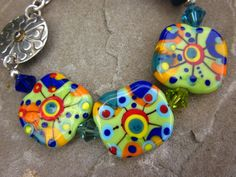 Firecracker Explosion of Color Lampwork Glass by BeachSoulDesigns, $90.00