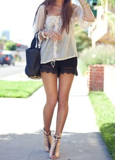 What to Wear With Lace Shorts For Ultimate Allure