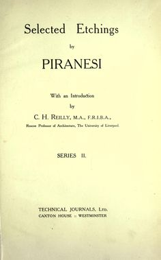 Selected etchings by Piranesi.