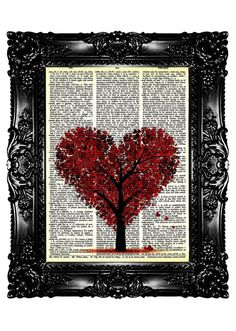 HEARTree Dictionary Print Upcycled Book Art Print