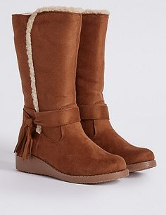 e1cc56edf6152 Kids' Tassel Wedge Boots Bearpaw Boots, Wedge Boots, Fashion Boots, Ladies  Shoes
