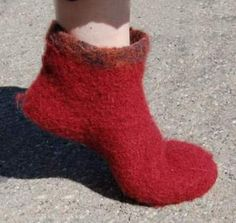 Ravelry: Fjord Felted Slippers pattern by Cathy Campbell - free knitted pattern
