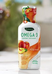 Drink your omega 3s and know this drink if free of toxins Flavors--Peach Mango and Lime Sorbet         12 oz.