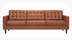 """EQ3   Reverie Sofa - Leather 92"""" Blossom, $2159"""
