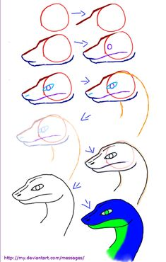 how to draw snake head - Google Search