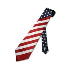 American Flag Men's Neck Tie USA Patriotic NeckTie NEW ($7.95) ❤ liked on Polyvore featuring men's fashion, men's accessories, men's neckwear, ties, mens ties, mens neck ties and mens neckties