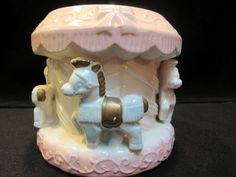 Horse Carousel  Planter, Vase  (1607) Vintage Decor, Vintage Items, Desert Cups, Etched Wine Glasses, Silk Arrangements, Vintage Cookies, Vintage Planters, White Bodies, Egg Shape