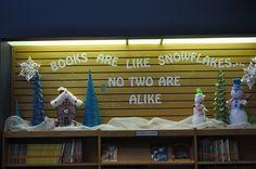 """Books Are Like Snowflakes..."" Display"