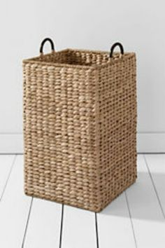 Grand Portage Seagrass Bin from Lands' End-- perfect for toy storage, or blankets, or a hamper