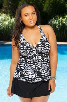 d8d5d6ad49c Plus Size Swimwear Always 4 Me Blanca 2 Pc Skirtini Plus Size Tankini