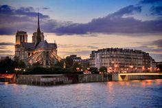 PARIS - Île de la Cité, com destaque para a Notre-Dame - fuievouvoltar.com