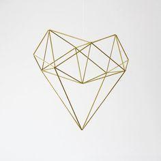 geometric heart shape tattoo - Google Search