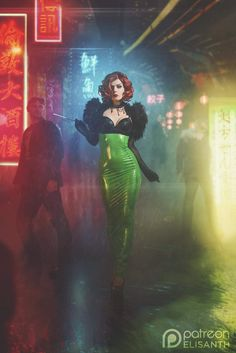 "eduardkorhonen: ""@elisanth looking amazing as a cyberpunk dame  """