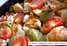 kg-os) 1 kg… Good Food, Yummy Food, Hungarian Recipes, International Recipes, Baked Potato, Potato Salad, Chicken Recipes, Food And Drink, Health Fitness