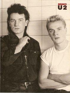 U2's Paul and Larry