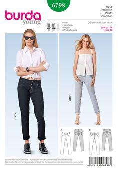 Simplicity Creative Group - Burda Style Pants, Jumpsuits 6798