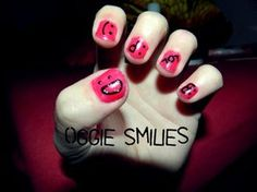 sweet smiliey nail design