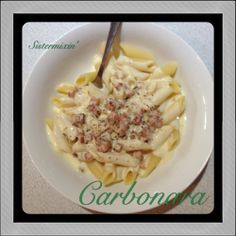 Sistermixin - Basic Carbonara Sauce (serves 6) Carbonara Pasta Sauce, Pasta Recipes, Dinner Recipes, Main Meals, Family Meals, Risotto, Macaroni And Cheese, Food To Make, Food And Drink