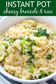 This Instant Pot Cheesy Broccoli and Rice is an easy and delicious side dish for just about any meal. Thanks to your pressure cooker, it's ready in a flash!
