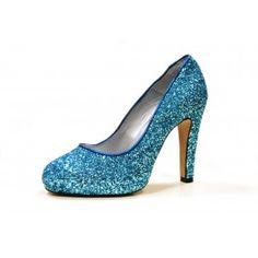 Zapato salón glitter de Martina Blue Blue Party, Party Shoes, Pumps, Fashion, Court Shoes, Shoes Sandals, Lounges, Fur, Moda