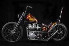 Golden Piss Flippah by Choppahead Kustom Cycles