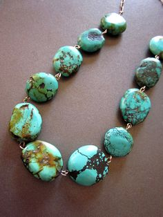 Turquoise Necklace Ralph Lauren Style by JeepersKeepers on Etsy