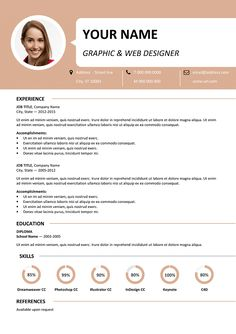 Esquilino Free Resume Template Microsoft Word  Resume  Cv