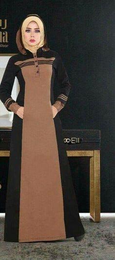 حجابات Islamic Fashion, Muslim Fashion, Abaya Fashion, Fashion Dresses, Modele Hijab, Abaya Designs, Muslim Dress, Islamic Clothing, Winter Fashion Outfits