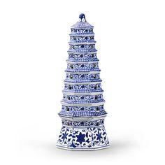 Navy & White Pagoda