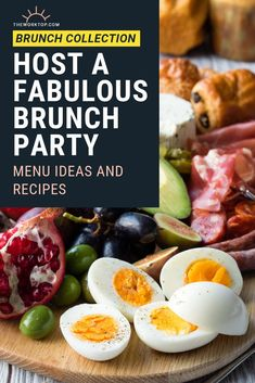 Want to host a fabulous brunch party and need some inspiration? Find brunch party ideas, including food and menu. Hosting brunch can be easy and effortless! Breakfast For A Crowd, Egg Recipes For Breakfast, Food For A Crowd, Breakfast Ideas, Christmas Brunch Menu, Christmas Breakfast, Best Brunch Recipes, Party Recipes, Brunch Party
