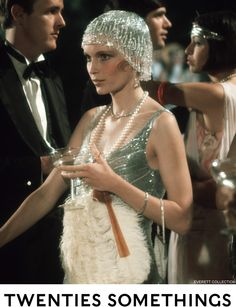 Mia Farrow as Daisy Buchanan in The Great Gatsby (1974) as seen in The New York Times Style Magazine.