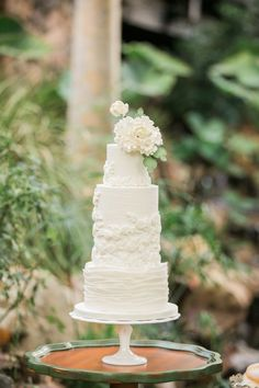 Sweet Blooms Photography | Cake: Laura Marie's | Location: Pala Mesa Resort via…