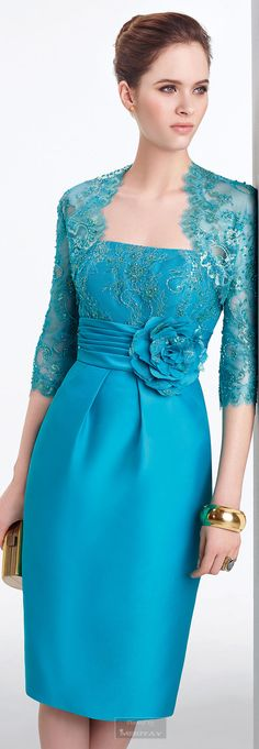 New Dress Brokat Aire Barcelona Ideas Lace Evening Dresses, Lovely Dresses, Beautiful Gowns, Elegant Dresses, Beautiful Outfits, Evening Gowns, Blue Dresses, Lace Dress, Formal Dresses