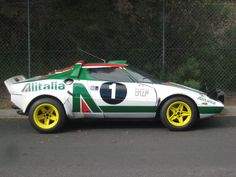 lancia stratos in racing livery