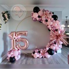Purple Balloons, Round Balloons, Balloon Gift, Balloon Garland, Birthday Balloon Decorations, Birthday Balloons, 18th Birthday Party, Birthday Party Design, Birthday Photography