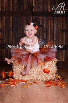 Tiny Turkey Tutu Dress - Infant Baby Girl Photo Prop, Dress Up, Halloween Costume, Shower Gift, Girls Size Newborn 3 6 9 12 Months on Etsy, $24.99